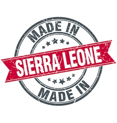 Made in Sierra Leone red round vintage stamp vector