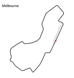 Melbourne grand prix circuit vector