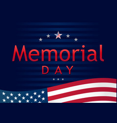 memorial day remember and honor navy blue vector image