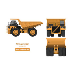 mining dumper on white background vector image