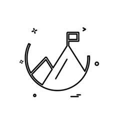 mountain icon design vector image