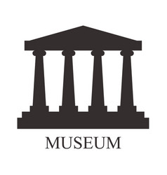 museum icon vector image