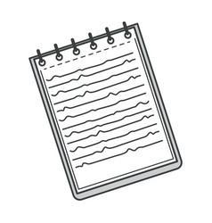 notebook with spiral binder notepad for tasks vector image