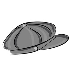 Old time hat on white background vector