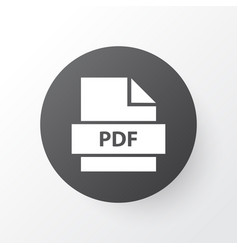 pdf icon symbol premium quality isolated paper vector image