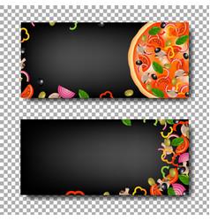 pizza banner set vector image