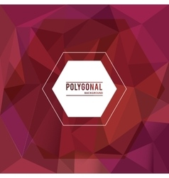 Polygonal design Geometric shape design vector