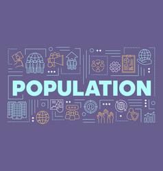 Population word concepts banner presentation vector