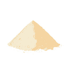 protein powder on white background vector image