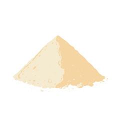 Protein powder on white background vector