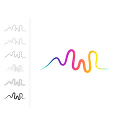 Pulse music player audio colorful wave logo vector