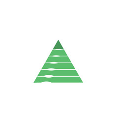 pyramid tech logo design vector image