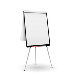 realistic flip chart good for presentation vector image