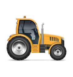Realistic tractor side view vector