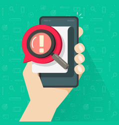 risk message or caution alert on document or vector image