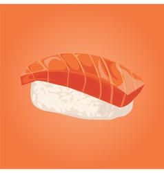 Sashimi with salmon Japanese food vector