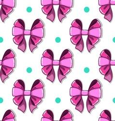 Seamless pattern cute cartoon bows vector image