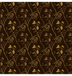 seamless wallpaper background grapes decor vintage vector image vector image