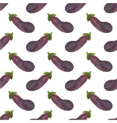 Seamless watercolor pattern with eggplant or vector image