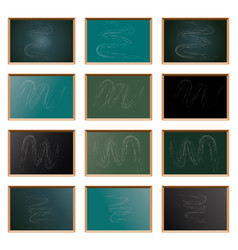 set of school blackboard vector image