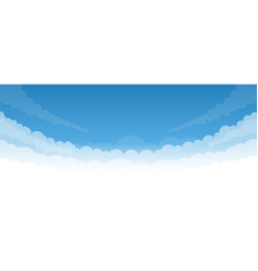 Sky background with white bottom vector