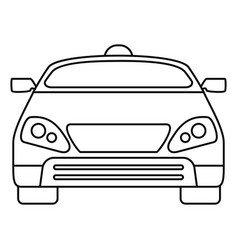 smart modern car icon outline style vector image