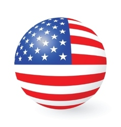 Stars and Stripes button and sticker vector