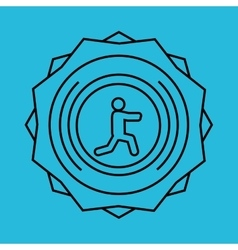 Stretching design sport icon Isolated image vector