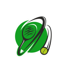 tennis ball and racket icon for sport club design vector image
