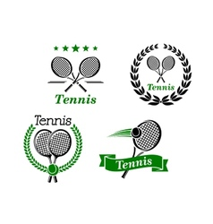 Tennis icons and emblems vector image