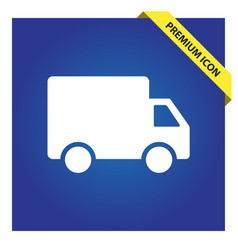 Truck delivery shipping icon vector