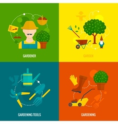 Vegetable garden flat icons composition vector