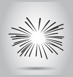 Vintage sunburst icon sun sketch burst doodle vector