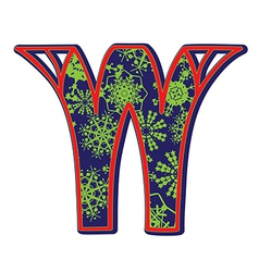 Winter letter W vector