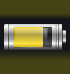 yellow metal with glass battery vector image