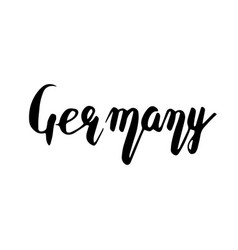 germany hand lettering isolated on white vector image vector image