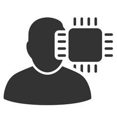 neuro interface icon vector image