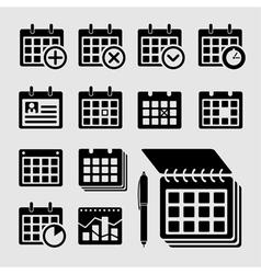 Plate calendar vector image vector image