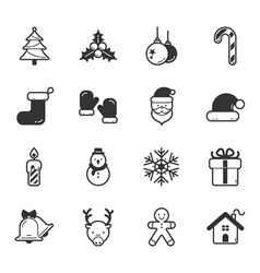 Set of merry christmas icons eps10 format vector image vector image