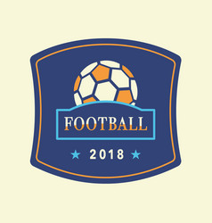 Soccer tournament 2018 logo template vector