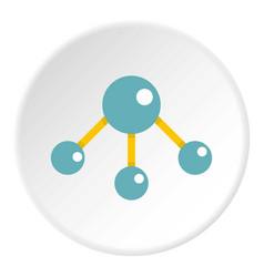 abstract blue molecules icon circle vector image vector image