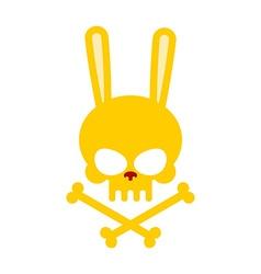 Cute rabbit skull with bones Good Honey Head vector image vector image