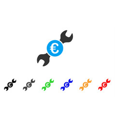 euro wrench icon vector image