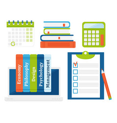 Book learn literature study opened and closed vector