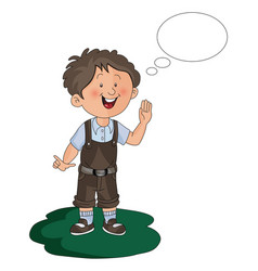 boy with thought bubble vector image vector image