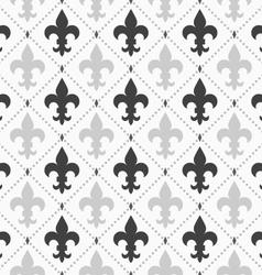 Shades of gray light and dark Fleur-de-lis vector image
