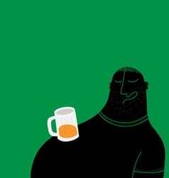 drunk man sleeping vector image vector image
