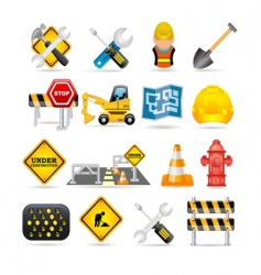 road icon set vector image vector image