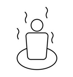 sauna icon vector image