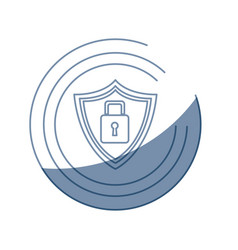 security technology padlock shield internet vector image vector image